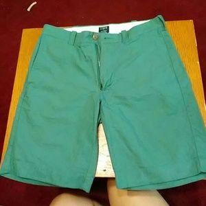 J Crew Mens Green Shorts size 30